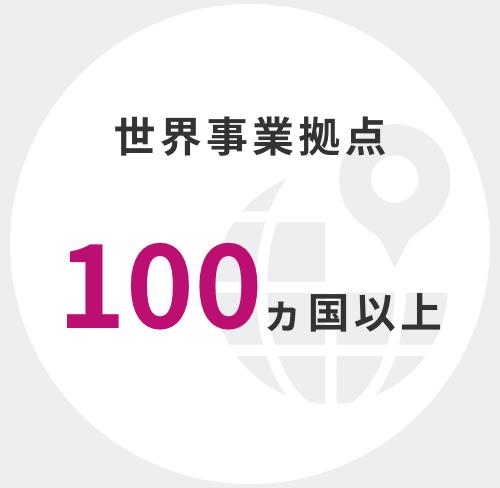 世界事業拠点 108以上